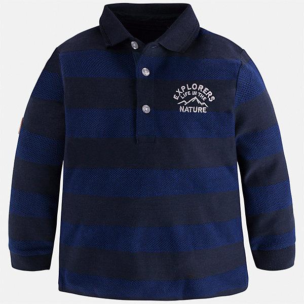 Mayoral Футболка-поло с длинным рукавом для мальчика Mayoral футболка с длинным рукавом детская reima цвет салатовый 5163378462 размер 116