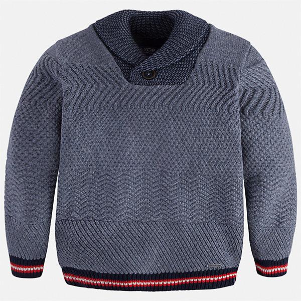 Свитер Mayoral для мальчикаСвитера и кардиганы<br>Характеристики товара:<br><br>• цвет: серый<br>• состав ткани: 60% хлопок, 30% полиамид, 10% шерсть<br>• сезон: демисезон<br>• особенности модели: ворот с пуговицей<br>• манжеты<br>• длинные рукава<br>• страна бренда: Испания<br>• страна изготовитель: Индия<br><br>Стильный свитер для мальчика от Майорал поможет обеспечить ребенку комфорт и тепло. Детский свитер отличается модным и продуманным дизайном. В свитере для мальчика от испанской компании Майорал ребенок будет выглядеть модно, а чувствовать себя - комфортно. <br><br>Свитер для мальчика Mayoral (Майорал) можно купить в нашем интернет-магазине.<br>Ширина мм: 190; Глубина мм: 74; Высота мм: 229; Вес г: 236; Цвет: серый; Возраст от месяцев: 18; Возраст до месяцев: 24; Пол: Мужской; Возраст: Детский; Размер: 92,134,128,122,116,110,104,98; SKU: 6934189;