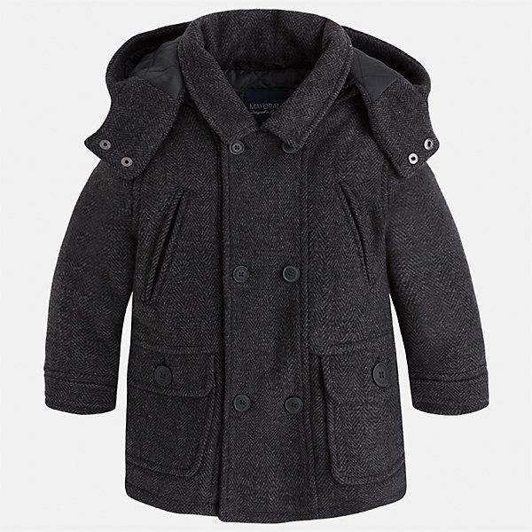 Куртка для мальчика MayoralВерхняя одежда<br>Характеристики товара:<br><br>• цвет: серый<br>• состав ткани: 44% акрил, 44% полиэстер, 4% вискоза, 3% шерсть, 3% полиамид, 2% хлопок<br>• подкладка: 100% полиэстер<br>• утеплитель: 100% полиэстер<br>• сезон: демисезон<br>• температурный режим: от -5 до +10<br>• особенности модели: с капюшоном<br>• отложной воротник<br>• застежка: пуговицы<br>• страна бренда: Испания<br>• страна изготовитель: Индия<br><br>Стильная детская куртка сделана из плотного но теплого материала. Благодаря качественной ткани детской куртки для мальчика создаются комфортные условия для тела. Серая куртка для мальчика отличается стильным продуманным дизайном.<br><br>Куртку для мальчика Mayoral (Майорал) можно купить в нашем интернет-магазине.<br>Ширина мм: 356; Глубина мм: 10; Высота мм: 245; Вес г: 519; Цвет: серый; Возраст от месяцев: 18; Возраст до месяцев: 24; Пол: Мужской; Возраст: Детский; Размер: 92,134,128,122,116,98,110,104; SKU: 6934742;