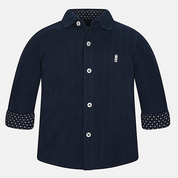 Рубашка Mayoral для мальчикаБлузки и рубашки<br>Характеристики товара:<br><br>• цвет: темно-синий<br>• состав ткани: 100% хлопок<br>• сезон: демисезон<br>• особенности модели: школьная<br>• застежка: пуговицы<br>• длинные рукава<br>• страна бренда: Испания<br>• страна изготовитель: Индия<br><br>Эта детская рубашка сделана из дышащего приятного на ощупь материала. Благодаря продуманному крою детской рубашки создаются комфортные условия для тела. Рубашка с длинным рукавом для мальчика отличается стильным продуманным дизайном.<br><br>Рубашку для мальчика Mayoral (Майорал) можно купить в нашем интернет-магазине.<br>Ширина мм: 174; Глубина мм: 10; Высота мм: 169; Вес г: 157; Цвет: темно-синий; Возраст от месяцев: 12; Возраст до месяцев: 15; Пол: Мужской; Возраст: Детский; Размер: 80,92,86,98; SKU: 6935024;