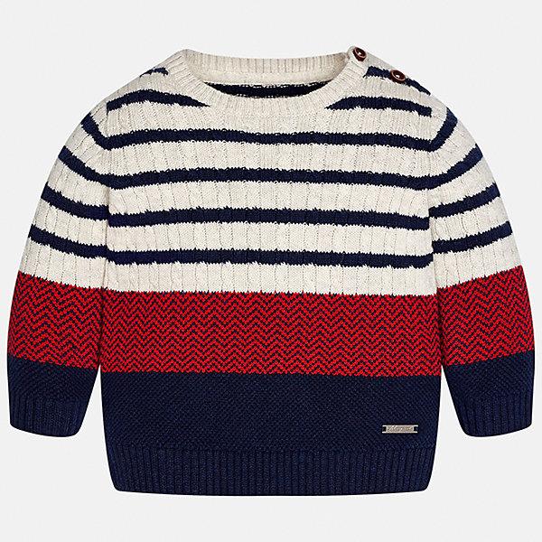 Свитер для мальчика MayoralТолстовки, свитера, кардиганы<br>Характеристики товара:<br><br>• цвет: бежевый/красный/красный<br>• состав ткани: 60% хлопок, 30% полиамид, 10% шерсть<br>• сезон: демисезон<br>• особенности модели: вязаный рисунок<br>• манжеты<br>• длинные рукава<br>• страна бренда: Испания<br>• страна изготовитель: Индия<br><br>Оригинальный свитер для мальчика Mayoral удобно сидит по фигуре. Этот детский свитер сделан из приятного на ощупь материала. Отличный способ обеспечить ребенку комфорт и аккуратный внешний вид - надеть детский свитер от Mayoral. Свитер для мальчика украшен оригинальным декором. <br><br>Свитер для мальчика Mayoral (Майорал) можно купить в нашем интернет-магазине.<br>Ширина мм: 190; Глубина мм: 74; Высота мм: 229; Вес г: 236; Цвет: бежевый/красный; Возраст от месяцев: 12; Возраст до месяцев: 18; Пол: Мужской; Возраст: Детский; Размер: 80,86,74,98,92; SKU: 6935093;
