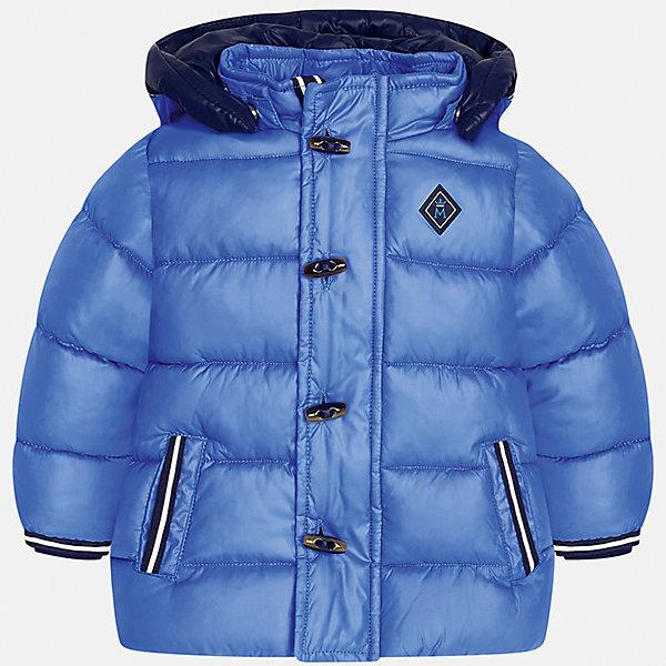 Куртка для мальчика MayoralВерхняя одежда<br>Характеристики товара:<br><br>• цвет: голубой<br>• состав ткани: 100% полиэстер<br>• подкладка: 100% полиэстер<br>• утеплитель: 100% полиэстер<br>• сезон: демисезон<br>• температурный режим: от -10 до +10<br>• особенности модели: с капюшоном, дутая<br>• капюшон: съемный<br>• застежка: молния, пуговицы<br>• страна бренда: Испания<br>• страна изготовитель: Индия<br><br>Модная детская куртка сделана из легкого, но теплого материала. Благодаря качественной ткани детской куртки для мальчика создаются комфортные условия для тела. Эта куртка для мальчика отличается стильным продуманным дизайном.<br><br>Куртку для мальчика Mayoral (Майорал) можно купить в нашем интернет-магазине.<br>Ширина мм: 356; Глубина мм: 10; Высота мм: 245; Вес г: 519; Цвет: голубой; Возраст от месяцев: 12; Возраст до месяцев: 18; Пол: Мужской; Возраст: Детский; Размер: 86,80,98,92; SKU: 6935140;