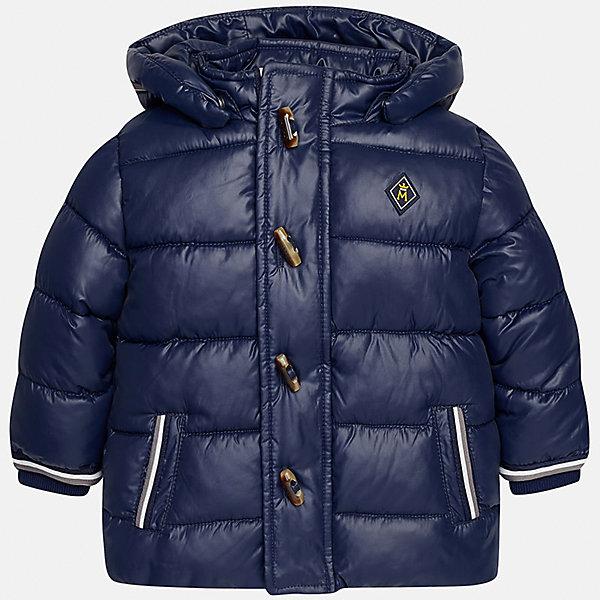 Куртка для мальчика MayoralВерхняя одежда<br>Характеристики товара:<br><br>• цвет: синий<br>• состав ткани: 100% полиэстер<br>• подкладка: 100% полиэстер<br>• утеплитель: 100% полиэстер<br>• сезон: демисезон<br>• температурный режим: от -10 до +10<br>• особенности модели: с капюшоном, дутая<br>• капюшон: съемный<br>• застежка: молния, пуговицы<br>• страна бренда: Испания<br>• страна изготовитель: Индия<br><br>Такая демисезонная детская куртка подойдет для переменной погоды. Отличный способ обеспечить ребенку тепло и комфорт - надеть теплую куртку от Mayoral. Детская куртка сшита из приятного на ощупь материала. Куртка для мальчика Mayoral дополнена теплой подкладкой.<br><br>Куртку для мальчика Mayoral (Майорал) можно купить в нашем интернет-магазине.<br>Ширина мм: 356; Глубина мм: 10; Высота мм: 245; Вес г: 519; Цвет: синий; Возраст от месяцев: 12; Возраст до месяцев: 18; Пол: Мужской; Возраст: Детский; Размер: 86,80,98,92; SKU: 6935150;