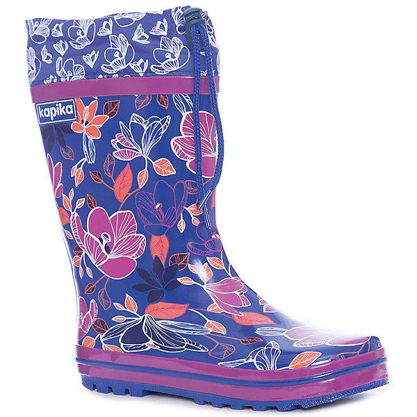 Купить Резиновые сапоги Kapika для девочки, Китай, синий, Женский