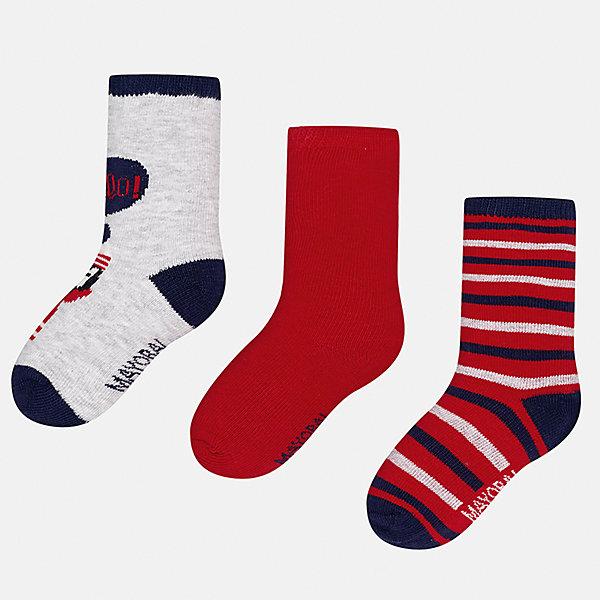 Mayoral Носки (3 пары) для мальчика Mayoral носки детские fifa цвет белый синий красный 3 пары wf441 размер 18