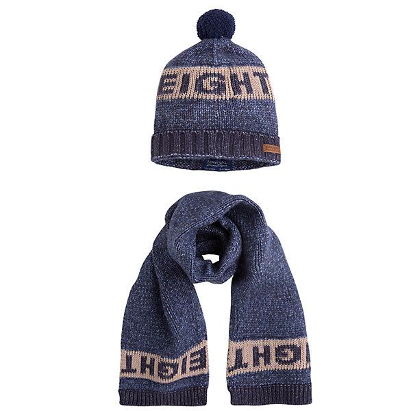 Купить Комплект: шапка и шарф Mayoral для мальчика, Китай, синий, Мужской
