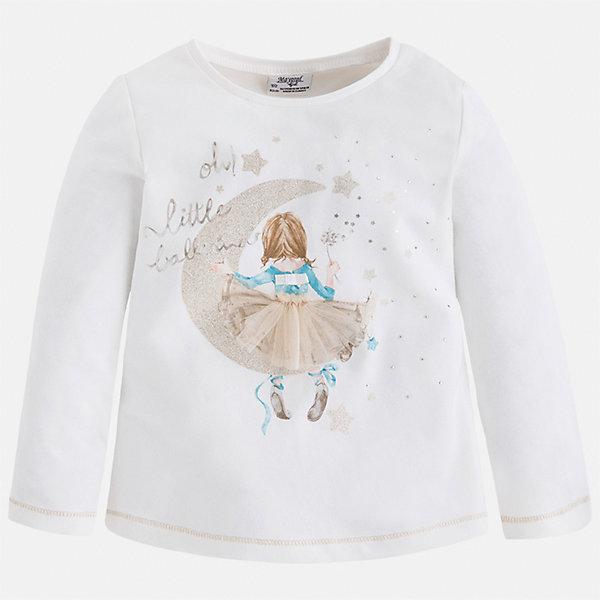 Футболка с длинным рукавом для девочки MayoralФутболки с длинным рукавом<br>Характеристики товара:<br><br>• цвет: бежевый/голубой<br>• состав ткани: 95% хлопок, 5% эластан<br>• сезон: демисезон<br>• особенности модели: принт с блестками<br>• длинные рукава<br>• страна бренда: Испания<br>• страна изготовитель: Индия<br><br>Водолазка с длинным рукавом для девочки от Майорал поможет обеспечить ребенку комфорт. Детская водолазка с длинным рукавом отличается стильным и продуманным дизайном. В водолазке с длинным рукавом для девочки от испанской компании Майорал ребенок будет выглядеть модно, и чувствовать себя комфортно. <br><br>Водолазку для девочки Mayoral (Майорал) можно купить в нашем интернет-магазине.<br>Ширина мм: 230; Глубина мм: 40; Высота мм: 220; Вес г: 250; Цвет: бежевый с синевой; Возраст от месяцев: 18; Возраст до месяцев: 24; Пол: Женский; Возраст: Детский; Размер: 92,134,128,122,116,110,98,104; SKU: 6944803;