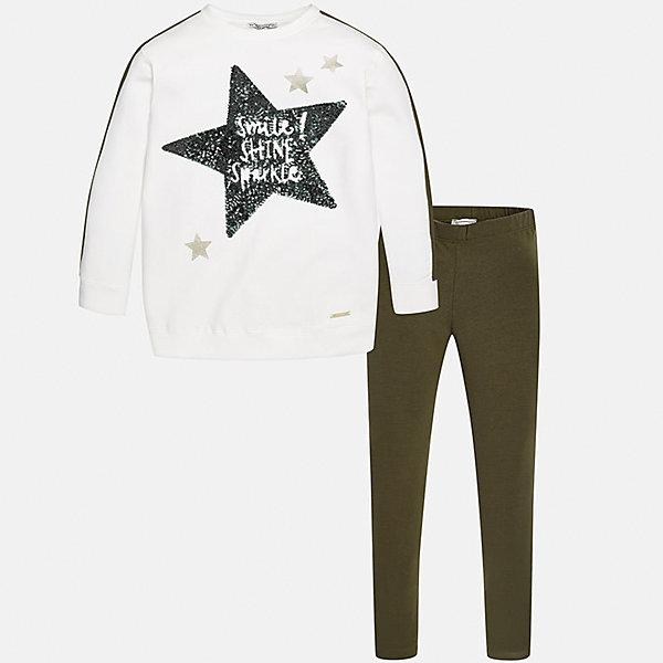 Mayoral Комплект: блузка и леггинсы для девочки Mayoral