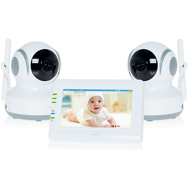 Видеоняня Ramili Baby RV900X2Видеоняни<br>Две камеры в комплекте. Дальность до 300 метров. Дисплей 11 см (4,3 дюйма). Двухсторонняя связь. Удаленное управление поворотом. Активация при плаче (VOX). Непрерывный мониторинг. Детектор движения. Автоматический поворот камеры за передвижением ребенка. Сенсорный экран. Ночное видение. Система защиты от помех. Система преодоления преград. Защищенная связь (100% приватность). Цифровой зум. Колыбельные мелодии. Таймер кормления. Термометр. Подключение до 4 камер. Аккумулятор в родительском блоке. Оповещение о низком заряде. Оповещение о выходе из зоны приёма. Возможно крепление на стене любого блока.<br>Ширина мм: 250; Глубина мм: 200; Высота мм: 70; Вес г: 1460; Возраст от месяцев: 0; Возраст до месяцев: 24; Пол: Унисекс; Возраст: Детский; SKU: 6954563;