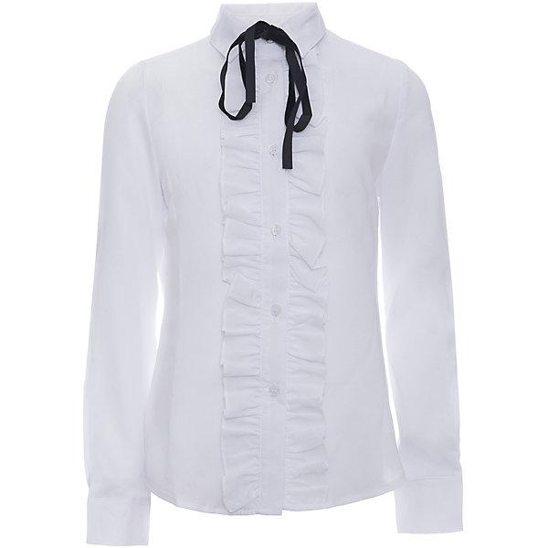 Блузка для девочки OrbyБлузки и рубашки<br>Характеристики товара:<br><br>• цвет: белый<br>• состав ткани: 40% вискоза, 60% ПЭ<br>• особенности: школьная, праздничная<br>• длинные рукава<br>• застежка: пуговицы<br>• рюша на планке<br>• съемный бант<br>• сезон: круглый год<br>• страна бренда: Россия<br>• страна изготовитель: Россия<br><br>Нарядная блузка для девочки Orby - базовая вещь гардероба. Такая блузка - отличный вариант практичной и стильной школьной одежды. <br><br>Белая школьная блузка из белого легкого материала поможет ребенку выглядеть стильно и соответствовать школьному дресс-коду.<br><br>Блузку для девочки Orby (Орби) можно купить в нашем интернет-магазине.<br>Ширина мм: 186; Глубина мм: 87; Высота мм: 198; Вес г: 197; Цвет: белый; Возраст от месяцев: 156; Возраст до месяцев: 168; Пол: Женский; Возраст: Детский; Размер: 164,146,140,134,158,128,122,152,170; SKU: 6960248;