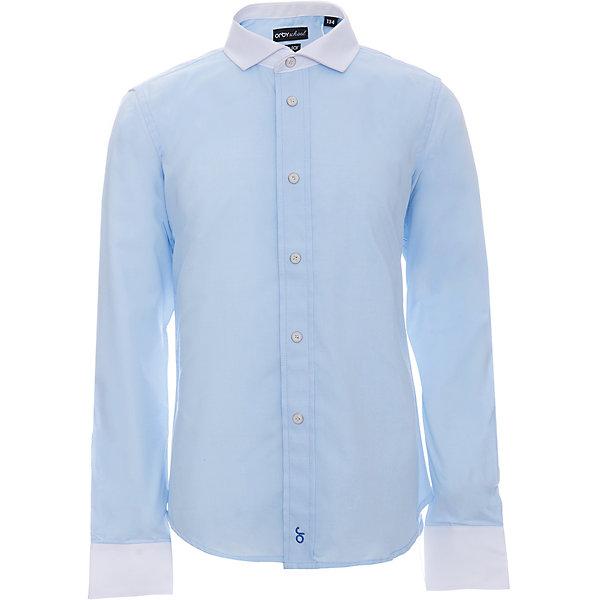 Рубашка для мальчика OrbyБлузки и рубашки<br>Характеристики товара:<br><br>• цвет: голубой<br>• состав ткани: 40% хлопок, 60% ПЭ<br>• особенности: школьная, праздничная<br>• длинные рукава<br>• застежка: пуговицы<br>• контрастный воротник и манжеты<br>• сезон: круглый год<br>• страна бренда: Россия<br>• страна изготовитель: Россия<br><br>Голубая рубашка для мальчика Orby - отличный способ разнообразить гардероб. Такая классическая сорочка хорошо дополнит школьную форму. <br><br>Классическая рубашка поможет ребенку выглядеть стильно и чувствовать себя комфортно. Сшита из материала с добавлением натурального хлопка.<br><br>Рубашку для мальчика Orby (Орби) можно купить в нашем интернет-магазине.<br>Ширина мм: 174; Глубина мм: 10; Высота мм: 169; Вес г: 157; Цвет: голубой; Возраст от месяцев: 168; Возраст до месяцев: 180; Пол: Мужской; Возраст: Детский; Размер: 170,164,158,152,146,140,134,128,122; SKU: 6960324;