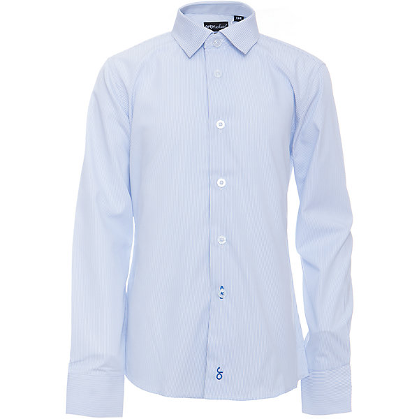 Рубашка для мальчика OrbyБлузки и рубашки<br>Характеристики товара:<br><br>• цвет: голубой<br>• состав ткани: 40% хлопок, 60% ПЭ<br>• особенности: школьная, праздничная<br>• длинные рукава<br>• застежка: пуговицы<br>• контрастный воротник и манжеты<br>• сезон: круглый год<br>• страна бренда: Россия<br>• страна изготовитель: Россия<br><br>Голубая рубашка в полоску для мальчика Orby - отличный способ разнообразить гардероб. Такая классическая сорочка хорошо дополнит школьную форму. <br><br>Классическая рубашка поможет ребенку выглядеть стильно и чувствовать себя комфортно. Сшита из материала с добавлением натурального хлопка.<br><br>Рубашку для мальчика Orby (Орби) можно купить в нашем интернет-магазине.<br>Ширина мм: 174; Глубина мм: 10; Высота мм: 169; Вес г: 157; Цвет: голубой; Возраст от месяцев: 72; Возраст до месяцев: 84; Пол: Мужской; Возраст: Детский; Размер: 122,170,164,158,152,146,140,134,128; SKU: 6960343;