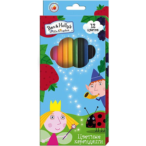 Цветные карандаши, 12 цветов, Бен и ХоллиКарандаши<br>Характеристики:<br><br>• возраст: от 3 лет<br>• в наборе: 12 разноцветных карандашей<br>• материал корпуса: древесина<br>• упаковка: картонная коробка с европодвесом<br>• размер упаковки: 9х20х0,8 см.<br>• срок годности не ограничен<br><br>Яркие карандаши «Бен и Холли» помогут маленькому художнику создавать красивые картинки, а любимые герои вдохновят малыша на новые интересные идеи. В набор входит 12 цветных мягких и одновременно прочных карандашей, идеально подходящих для рисования, письма и раскрашивания. Яркие линии получаются без сильного нажима. <br><br>Благодаря высококачественной древесине, карандаши легко затачиваются. Прочный грифель не крошится при падении и не ломается при заточке.<br><br>Цветные карандаши, 12 цветов, Бен и Холли можно купить в нашем интернет-магазине.<br>Ширина мм: 90; Глубина мм: 8; Высота мм: 202; Вес г: 83; Возраст от месяцев: 36; Возраст до месяцев: 2147483647; Пол: Унисекс; Возраст: Детский; SKU: 6963146;