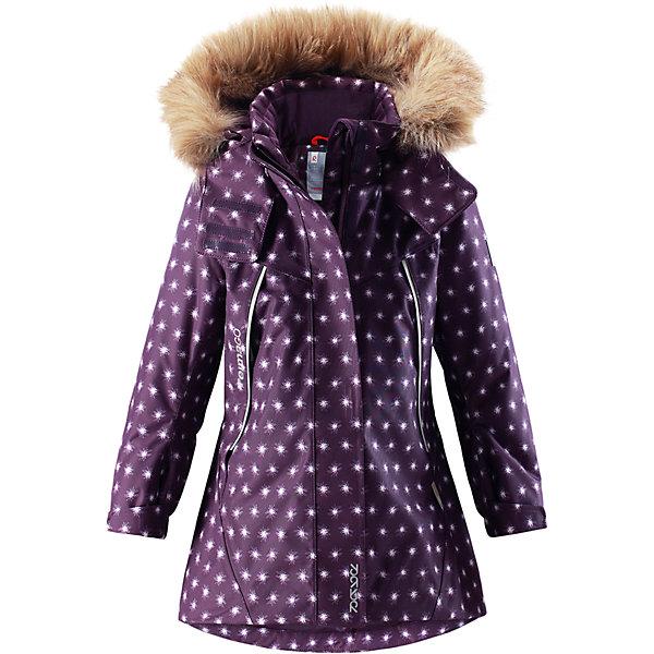 Куртка Reimatec® Reima Muhvi для девочкиОдежда<br>Характеристики товара:<br><br>• цвет: фиолетовый;<br>• состав: 100% полиэстер;<br>• подкладка: 100% полиэстер;<br>• утеплитель: 160 г/м2<br>• температурный режим: от 0 до -20С;<br>• сезон: зима; <br>• водонепроницаемость: 15000 мм;<br>• воздухопроницаемость: 7000 мм;<br>• износостойкость: 30000 циклов (тест Мартиндейла);<br>• водо- и ветронепроницаемый, дышащий и грязеотталкивающий материал;<br>• все швы проклеены и водонепроницаемы;<br>• гладкая подкладка из полиэстера;<br>• эластичные манжеты;<br>• застежка: молния с защитой подбородка;<br>• безопасный съемный и регулируемый капюшон на кнопках;<br>• съемный искусственный мех на капюшоне;<br>• регулируемые манжеты и подол;<br>• два кармана на кнопках;<br>• внутренний нагрудный карман;<br>• карман с креплением для сенсора ReimaGO®;<br>• светоотражающие детали;<br>• страна бренда: Финляндия;<br>• страна изготовитель: Китай.<br><br>Теплая, водо и ветронепроницаемая детская зимняя куртка Reimatec®. Материал отталкивает грязь и хорошо дышит, так что ваш ребенок не вспотеет. Все швы проклеены, водонепроницаемы. Эта объемная модель отлично сидит благодаря сборке сзади на талии, а также регулируемым манжетам и подолу. Эта куртка с подкладкой из гладкого полиэстера легко надевается. С помощью удобной системы кнопок Play Layers® к куртке можно присоединять разнообразную одежду промежуточного слоя Reima®.<br><br>В куртке предусмотрен съемный капюшон, отороченный съемной отделкой из искусственного меха, и множество светоотражающих деталей. В карманах на молнии можно хранить все самое важное, например, смартфон можно положить в нагрудный карман или в два передних кармана на молнии. А для сенсора ReimaGO имеется специальный карман с кнопками. Эта куртка очень проста в уходе, ведь ее можно сушить в стиральной машине.<br><br>Куртку Muhvi для девочки Reimatec® Reima от финского бренда Reima (Рейма) можно купить в нашем интернет-магазине<br>Ширина мм: 356; Глубина мм: 10; Высота мм: 