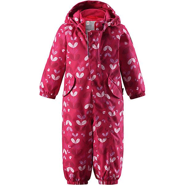 Комбинезон Reimatec® Reima Puna для девочкиВерхняя одежда<br>Характеристики товара:<br><br>• цвет: розовый;<br>• состав: 100% полиэстер;<br>• подкладка: 100% полиэстер;<br>• утеплитель: 160 г/м2;<br>• сезон: демисезон, зима;<br>• температурный режим: от 0 до -20С;<br>• водонепроницаемость: 8000 мм;<br>• воздухопроницаемость: 10000 мм;<br>• износостойкость: 30000 циклов (тест Мартиндейла);<br>• водо- и ветронепроницаемый, дышащий и грязеотталкивающий материал;<br>• основные швы проклеены и водонепроницаемы;<br>• застежка: молния с защитой подбородка;<br>• гладкая подкладка из полиэстера;<br>• утепленная задняя часть изделия;<br>• безопасный, съемный капюшон;<br>• эластичные манжеты;<br>• внутренняя регулировка обхвата талии;<br>• эластичные штанины;<br>• съемные эластичные штрипки;<br>• два кармана с кнопками;<br>• светоотражающие детали;<br>• страна бренда: Финляндия;<br>• страна изготовитель: Китай.<br><br>Основные швы комбинезона проклеены, а сам он изготовлен из водо и ветронепроницаемого, грязеотталкивающего материала. Утепленная задняя часть обеспечит дополнительную защиту от холода во время игр в снегу. Гладкая подкладка и длинная молния облегчают надевание, а талия в комбинезоне регулируется. Два кармана с клапанами надежно сохранят все сокровища.<br><br>Комбинезон Reimatec® Reima Puna от финского бренда Reima (Рейма) можно купить в нашем интернет-магазине.<br>Ширина мм: 356; Глубина мм: 10; Высота мм: 245; Вес г: 519; Цвет: розовый; Возраст от месяцев: 24; Возраст до месяцев: 36; Пол: Женский; Возраст: Детский; Размер: 98,92,86,80,74; SKU: 6968483;