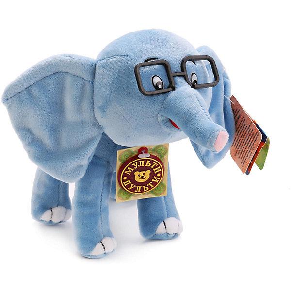 """Картинка для Мульти-Пульти Мягкая игрушка """"Слоненок"""", 38 попугаев, со звуком, Мульти-пульти"""