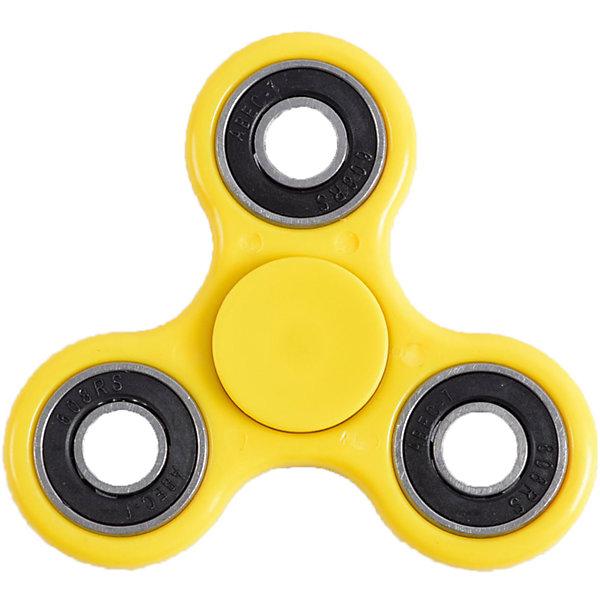 Спиннер для рук, желтый, металлический подшипник, Fidget SpinnerИгрушки-антистресс<br>Характеристики товара:<br><br>• цвет: желтый;<br>• материал: пластик, металл;<br>• размер упаковки: 7х7х7 см;<br>• вес: 50 грамм;<br>• возраст: от  3лет.<br><br>Спиннер Fidget Spinner состоит из металлического подшипника и трех лопастей желтого цвета. Чтобы игрушка начала крутиться, достаточно запустить спиннер, удерживая центральный подшипник. Движения спиннера равномерные, плавные и практически бесшумные.  После запуска спиннер крутится в течение нескольких минут. При желании можно придумать или повторить различные трюки с использованием спиннера.<br><br>Игра со спиннером поможет расслабиться, успокоиться, а также развить моторику рук. Игрушка имеет небольшой размер, поэтому ее удобно брать с собой и крутить в любой удобной ситуации. <br><br>Спиннер для рук, желтый, металлический подшипник, Fidget Spinner (Фиджет Спиннер) можно купить в нашем интернет-магазине.<br>Ширина мм: 70; Глубина мм: 70; Высота мм: 70; Вес г: 50; Возраст от месяцев: 36; Возраст до месяцев: 2147483647; Пол: Унисекс; Возраст: Детский; SKU: 6970793;