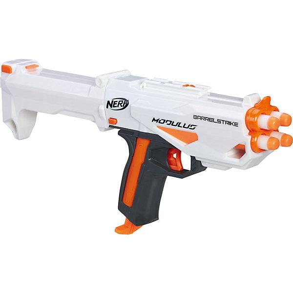 Hasbro Бластер Nerf Модулус Бластер-дуло игрушечное оружие nerf hasbro игрушечный модулус три страйк бластер