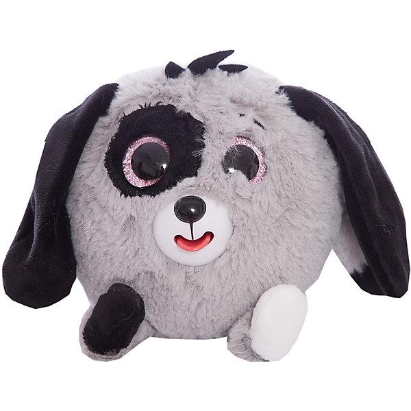 1Toy Мягкая игрушка 1toy Дразнюка-Zoo Серая собачка, 13 см, звук мягкая игрушка just play собачка кэнди и ее щенки