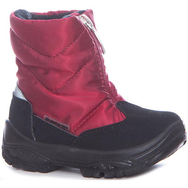 Утепленные сапоги Alaska OriginaleУтепленные<br>Характеристики товара:<br><br>• цвет: красный<br>• внешний материал: текстиль<br>• внутренний материал: натуральная шерсть/искусственный мех<br>• стелька: натуральная шерсть/искусственный мех<br>• подошва: полимер<br>• сезон: зима<br>• мембранные<br>• водонепроницаемая пропитка верха<br>• температурный режим: от -30 до 0<br>• защита мыса<br>• подошва не скользит<br>• застежка: молния<br>• анатомические <br>• страна бренда: Испания<br>• страна изготовитель: Румыния <br><br>Обращаем ваша внимание, что во всех сапогах Alaska Originale до 27 размера включительно внутренний материал – натуральная шерсть, начиная с 28 размера – искусственный мех.<br><br>Красные зимние утепленные сапоги для девочки имеют не только стильный проработанный дизайн, но и отлично подходят для зимних морозов. Эта мембранная обувь позволяет ногам дышать, при этом призвана защитить их от ветра, холода и влаги. <br><br>Применение новейших технологий и большой опыт производства обуви помогают бренду Аляска Ориджинал оставаться востребованным во многих странах. В каждой модели обуви проработаны все нюансы для обеспечения высокой степени комфорта.<br><br>Утепленные сапоги Alaska Originale для девочки (Аляска Ориджинал) можно купить в нашем интернет-магазине.