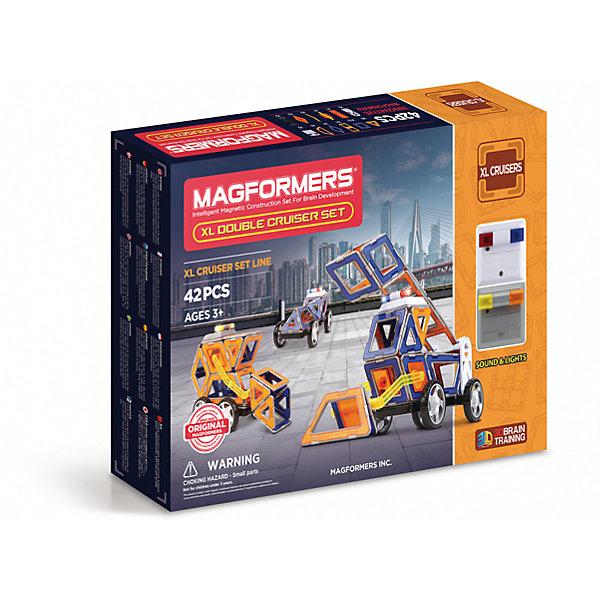 MAGFORMERS Магнитный конструктор XL Double Cruiser Set 42, MAGFORMERS магнитный конструктор magformers r c cruiser set 707003 63091
