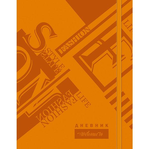 Дневник. Универсальный блок.Дневники<br>Характеристики товара:<br><br>• возраст: от 6 лет;<br>• цвет: оранжевый;<br>• формат: А5;<br>• количество листов: 48;<br>• разметка: в линейку;<br>• бумага: офсетная;<br>• переплет: интегральный;<br>• обложка: исскуственная кожа, картон;<br>• размер: 21,5х17х0,5 см.;<br>• вес: 210 гр.;<br>• страна бренда: Россия;<br>• страна изготовитель: Россия.<br><br>Дневник, универсальный блок - школьный дневник 1-11 классы, имеет сшитый внутренний блок, состоящий из 48 листов белой бумаги (плотность 70г/кв.м.) с линовкой синего цвета и тиснением из фольги. Снабжен резинкой, что поможет быстро открыть нужную страницу. Прочная и приятная на ощупь обложка выполнена из высококачественной искусственной кожи с рисунком.<br><br>Первая страница дневника представляет собой анкету для личных данных владельца, также на ней указаны телефоны экстренной помощи. На следующих страницах находятся список преподавателей, список преподавателей,  расписание кружков, секций и факультативов, заметки классного руководителя и учителей. На последних страницах дневника имеются сведения о заданиях на каникулы, список литературы для чтения, сведения об успеваемости и поведении ребенка за учебный год, список одноклассников и справочный материал по различным предметам.<br><br>Дневник, универсальный блок, 48 листов, можно купить в нашем интернет-магазине.<br>Ширина мм: 215; Глубина мм: 170; Высота мм: 5; Вес г: 210; Возраст от месяцев: 36; Возраст до месяцев: 216; Пол: Унисекс; Возраст: Детский; SKU: 6992536;