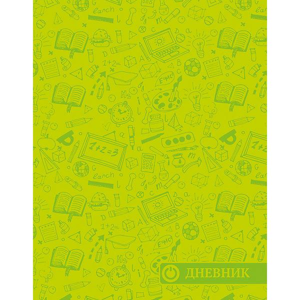 Дневник. Универсальный блок, тиснение - Паттерн.Дневники<br>Характеристики товара:<br><br>• возраст: от 6 лет;<br>• цвет: зеленый;<br>• формат: А5;<br>• количество листов: 48;<br>• разметка: в линейку;<br>• бумага: офсетная;<br>• переплет: интегральный;<br>• обложка: исскуственная кожа, картон;<br>• размер: 21,5х17х0,5 см.;<br>• вес: 210 гр.;<br>• страна бренда: Россия;<br>• страна изготовитель: Россия.<br><br>Дневник, универсальный блок, «Паттерн» - школьный дневник 1-11 классы, имеет сшитый внутренний блок, состоящий из 48 листов белой бумаги (плотность 70г/кв.м.) с линовкой синего цветаи тиснением из фольги. Снабжен резинкой, что поможет быстро открыть нужную страницу. Прочная и приятная на ощупь обложка выполнена из высококачественной искусственной кожи с рисунком.<br><br>Первая страница дневника представляет собой анкету для личных данных владельца, также на ней указаны телефоны экстренной помощи. На следующих страницах находятся  список преподавателей, список преподавателей,  расписание кружков, секций и факультативов, заметки классного руководителя и учителей. На последних страницах дневника имеются сведения о заданиях на каникулы, список литературы для чтения, сведения об успеваемости и поведении ребенка за учебный год, список одноклассников и справочный материал по различным предметам.<br><br>Дневник, универсальный блок, «Паттерн», 48 листов, можно купить в нашем интернет-магазине.<br>Ширина мм: 215; Глубина мм: 170; Высота мм: 5; Вес г: 213; Возраст от месяцев: 36; Возраст до месяцев: 216; Пол: Унисекс; Возраст: Детский; SKU: 6992537;