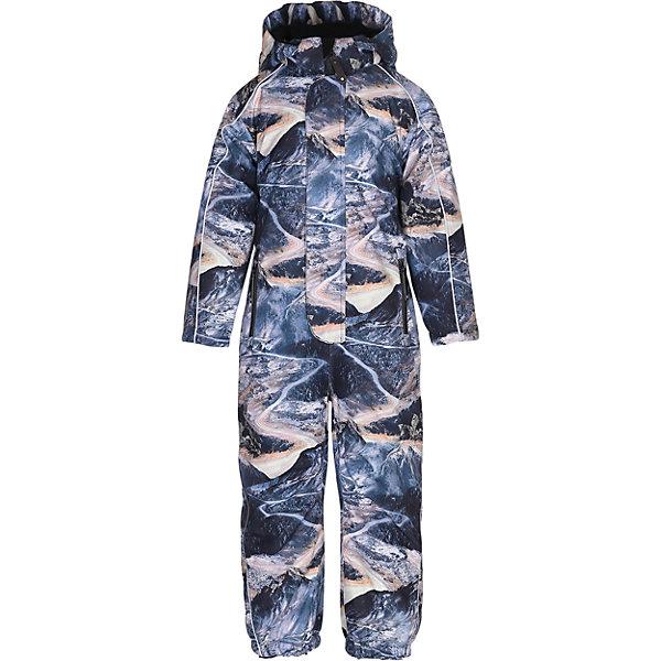 Комбинезон MOLO для мальчикаВерхняя одежда<br>Зимний комбинезон Molo <br>• состав: 100% нейлон, 100% полиэстер<br>• температурный режим: 0° до -25° градусов<br>• утеплитель:  ThinsulateTM  прекрасно сохраняющий тепло,  позволяет телу дышать и остается при этом сухим и легким<br>• водонепроницаемость: 10 000 мм<br>• отвод влаги: 8 000 г/м2/24ч<br>• основные швы проклеены<br>• съёмный капюшон<br>• удобные молнии<br>• «дышащий» материал<br>• ветро- водо- и грязеотталкивающий материал<br>• ветрозащитная планка<br>• комфортная посадка<br>• прочные съёмные силиконовые штрипки<br>• страна производства: Китай<br>• страна бренда: Дания <br> Фантастический и причудливый датский бренд Molo это самый актуальный и стильный дизайн в детской одежде для маленьких модников.<br>Ширина мм: 215; Глубина мм: 88; Высота мм: 191; Вес г: 336; Цвет: белый; Возраст от месяцев: 60; Возраст до месяцев: 72; Пол: Мужской; Возраст: Детский; Размер: 116,104,128,110; SKU: 6995075;