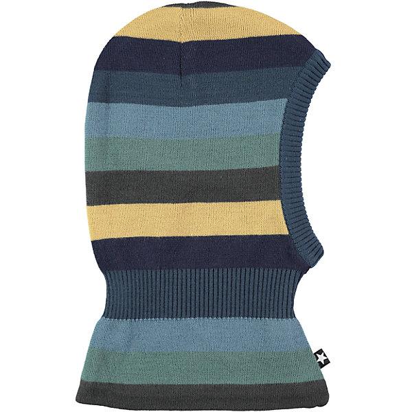 Шапка-шлем MOLO для мальчикаГоловные уборы<br>Характеристики товара:<br><br>• цвет: синий<br>• состав ткани: 50% шерсть, 50% акрил<br>• сезон: зима<br>• температурный режим: от -15 до +5<br>• страна бренда: Дания<br>• страна изготовитель: Китай<br><br>Детская шапка-шлем легко стирается и долго служит. Стильная шапка-шлем для ребенка удобно держится на голове благодаря плотной структуре материала. Эта теплая шапка-шлем разработана специально для детей. Детская шапка-шлем обеспечит защиту от холодного воздуха. <br><br>Шапку-шлем Molo (Моло) для мальчика можно купить в нашем интернет-магазине.<br>Ширина мм: 89; Глубина мм: 117; Высота мм: 44; Вес г: 155; Цвет: белый; Возраст от месяцев: 12; Возраст до месяцев: 24; Пол: Мужской; Возраст: Детский; Размер: 46-48,50-54; SKU: 6995312;