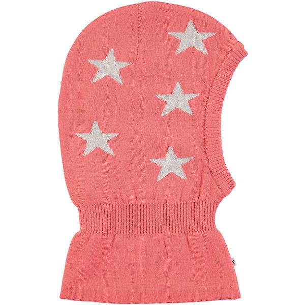 Шапка-шлем MOLO для девочкиГоловные уборы<br>Характеристики товара:<br><br>• цвет: розовый<br>• состав ткани: 50% шерсть, 50% акрил<br>• сезон: зима<br>• температурный режим: от -15 до +5<br>• страна бренда: Дания<br>• страна изготовитель: Китай<br><br>Яркая детская шапка-шлем декорирована фирменными звездами Molo. Шапку-шлем для ребенка удобно держится на голове благодаря вязаным резинкам по краям изделия. Эта теплая шапка-шлем разработана специально для детей. Простая в уходе шапка-шлем сделана из качественного материала. <br><br>Шапку-шлем Molo (Моло) для девочки можно купить в нашем интернет-магазине.<br>Ширина мм: 89; Глубина мм: 117; Высота мм: 44; Вес г: 155; Цвет: розовый; Возраст от месяцев: 12; Возраст до месяцев: 24; Пол: Женский; Возраст: Детский; Размер: 46-48,50-54; SKU: 6995326;