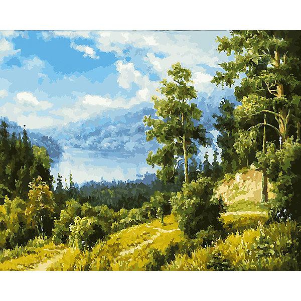 Белоснежка Живопись на холсте 40х50см Лесной пейзаж