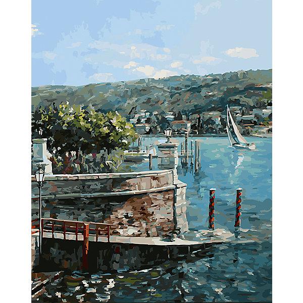Купить Живопись на холсте 40х50см Изола-Белла на озере Лаго-Маджоре Белоснежка, Китай, Унисекс