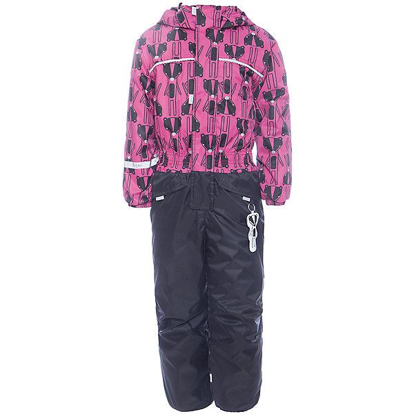 Комбинезон BOOM by Orby для девочкиВерхняя одежда<br>Характеристики товара:<br><br>• цвет: черный<br>• ткань верха: Нейлон с мембранным покрытием 3000х3000<br>• подкладка: Поларфлис; ПЭ пуходержащий<br>• утеплитель: FiberSoft 150 г/м2<br>• сезон: демисезон<br>• температурный режим: от 0°до +15°С<br>• особенности: на молнии, с ветрозащитным клапаном на липучке<br>• тип комбинезона: с принтом, эластичные резинки на талии, рукавах и штанинах<br>• капюшон: без меха, несъемный<br>• страна бренда: Россия<br>• страна изготовитель: Россия<br><br>Демисезонный комбинезон - отличный вариант одежды для холодной переменной погоды. Благодаря красивому цвету, капюшону и большим карманам детский комбинезон стильно смотрится и хорошо сидит по фигуре. <br><br>Комбинезон BOOM by Orby для девочки можно купить в нашем интернет-магазине.