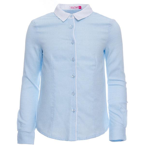 Блузка SELA для девочкиБлузки и рубашки<br>Характеристики товара:<br><br>• цвет: голубой;<br>• состав: 100% хлопок;<br>• сезон: демисезон;<br>• особенности: школьная;<br>• застежка: пуговицы<br>• манжеты на пуговице<br>• свободный крой;<br>• рукав: длинный;<br>• страна бренда: Россия;<br>• страна изготовитель: Китай.<br><br>Школьная блузка с длинным рукавом для девочки. Голубая блузка свободного кроя. Изготовлена из 100% хлопка. Застегивается на пуговицы. Манжеты блузки застегиваются на одну пуговицу.<br><br>Блузку Sela (Села) для девочки можно купить в нашем интернет-магазине.<br>Ширина мм: 186; Глубина мм: 87; Высота мм: 198; Вес г: 197; Цвет: лиловый; Возраст от месяцев: 72; Возраст до месяцев: 84; Пол: Женский; Возраст: Детский; Размер: 122,164,152,146,140,134,128; SKU: 7009447;