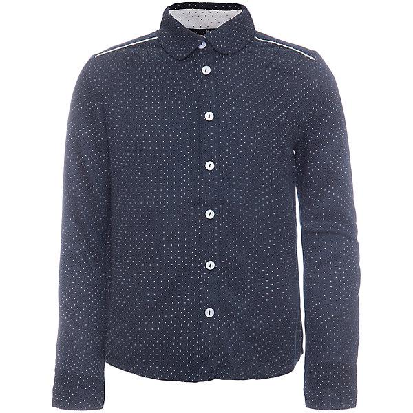 Блузка SELA для девочкиБлузки и рубашки<br>Характеристики товара:<br><br>• цвет: темно-синий;<br>• состав: 100% вискоза;<br>• сезон: демисезон;<br>• особенности: школьная, в горошек, повседневная;<br>• свободный крой;<br>• застежка: пуговицы;<br>• манжеты на пуговице;<br>• рукав: длинный;<br>• страна бренда: Россия;<br>• страна изготовитель: Китай.<br><br>Блузка с длинным рукавом для девочки. Школьная блузка астегивается на пуговицы, манжеты на одной пуговице. Синяя блузка в мелкий горошек.<br><br>Блузку Sela (Села) для девочки можно купить в нашем интернет-магазине.<br>Ширина мм: 186; Глубина мм: 87; Высота мм: 198; Вес г: 197; Цвет: темно-синий; Возраст от месяцев: 72; Возраст до месяцев: 84; Пол: Женский; Возраст: Детский; Размер: 122,164,152,146,140,134,128; SKU: 7009477;