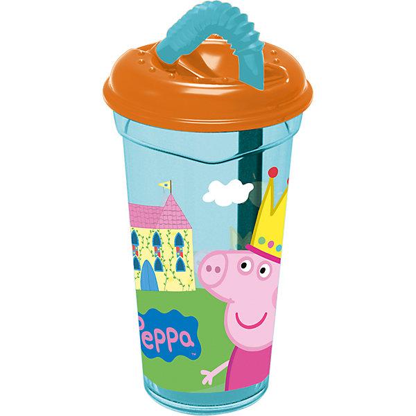Стакан пластиковый с соломинкой и крышкой 400 мл., Свинка ПеппаСвинка Пеппа<br>Характеристики:<br><br>• возраст: от 3 лет;<br>• объем: 400 мл;<br>• дополнительные опции: крышка, соломинка;<br>• материал: пищевой пластик;<br>• размер: 8,7х8,7х17 см;<br>• вес: 80 г.<br>   <br>Красочный детский стакан с изображениями любимых телевизионных героев предназначен для детей от 3 лет. Яркую посуду можно использовать дома, брать с собой в дорогу или на пикник. <br><br>Стакан изготовлен из высококачественного пищевого пластика. Удобная крышка плотно закрывает стакан с жидкостью, а трубочка закреплена в отверстии. Стакан можно использовать для обучения детей самостоятельному приему пищи, он не бьется и безопасен для малышей.<br><br>Стакан пластиковый с соломинкой и крышкой 400 мл., Свинка Пеппа, Stor можно приобрести в нашем интернет-магазине.<br>Ширина мм: 87; Глубина мм: 87; Высота мм: 170; Вес г: 78; Возраст от месяцев: 36; Возраст до месяцев: 2147483647; Пол: Унисекс; Возраст: Детский; SKU: 7010350;