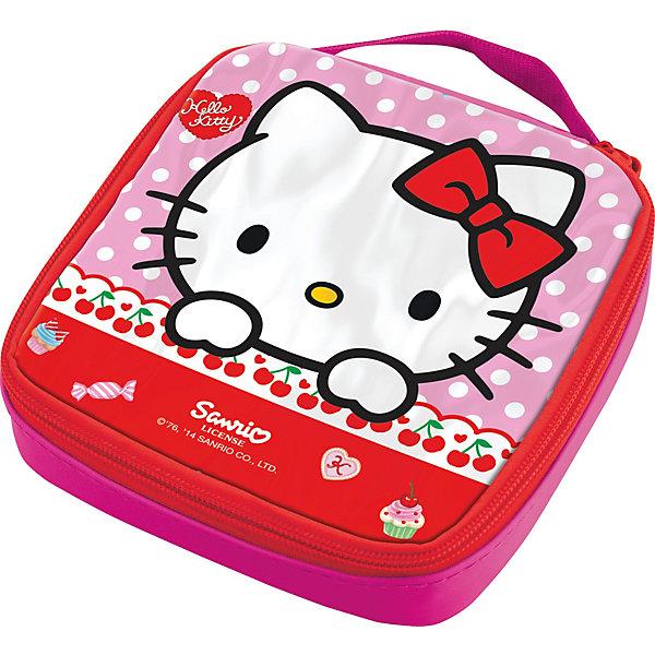 Термосумка Hello KittyТермосумки и термосы<br>Характеристики:<br><br>• возраст: от 3 лет;<br>• объем: 500 мл;<br>• дополнительные опции: замок-молния;<br>• материал: текстиль;<br>• размер: 15,4х4х15,5 см;<br>• вес: 60 г.<br>   <br>Термо-сумка предназначена для удобного хранения и переноски ланч-боксов. <br><br>Красочная текстильная сумка с изображением любимых детских героев подойдет для школьных обедов. Дети легко смогут открыть замок-молнию, чтобы достать контейнер с едой. Сбоку вшита специальная ручка для переноски.<br><br>Ланч-бокс будет плотно упакован и защищен от повреждения. Сумку можно использовать в качестве подставки под контейнер.<br><br>Термосумка Hello Kitty, Stor можно приобрести в нашем интернет-магазине.<br>Ширина мм: 155; Глубина мм: 40; Высота мм: 155; Вес г: 60; Возраст от месяцев: 36; Возраст до месяцев: 2147483647; Пол: Унисекс; Возраст: Детский; SKU: 7010359;