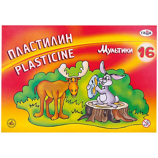 Пластилин МУЛЬТИКИ, 16 цветов 320 гр. со стеком ГаммаПластилин<br>Характеристики:<br><br>• возраст: от 3 лет<br>• в наборе: 16 цветов (брусков) пластилина, стек<br>• общая масса пластилина: 320 гр.<br>• упаковка: картонная коробка<br>• размер упаковки: 20х29х1,7 см.<br><br>Пластилин «Мультики» предназначен для лепки и моделирования.<br><br>Пластилин изготовлен из высококачественных компонентов, обладает отличными пластичными свойствами, хорошо размягчается, не липнет к рукам и не окрашивает их, идеально держит форму. Нетоксичен.<br><br>Работа с пластилином поможет малышу развить творческие способности, воображение и мелкую моторику рук. С помощью стека, прилагающегося к набору, ребенок может наносить орнамент на свои изделия, что оказывает позитивное воздействие на творческое мышление.<br><br>Пластилин МУЛЬТИКИ, 16 цветов 320 гр. со стеком Гамма можно купить в нашем интернет-магазине.<br>Ширина мм: 230; Глубина мм: 160; Высота мм: 20; Вес г: 355; Возраст от месяцев: 36; Возраст до месяцев: 2147483647; Пол: Унисекс; Возраст: Детский; SKU: 7010501;