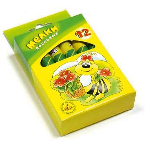 Мелки восковые 12 цветов ПЧЕЛКА 11 мм ГаммаМасляные и восковые мелки<br>Характеристики:<br><br>• возраст: от 3 лет<br>• в наборе: 12 разноцветных утолщенных восковых мелков<br>• диаметр мелка: 1,1 см.<br>• упаковка: картонная коробка с подвесом<br>• размер упаковки: 12,5х7х2,3 см.<br>• вес: 144 гр.<br><br>Мягкие утолщенные восковые мелки «Пчелка» откроют юным художникам новые горизонты для творчества.<br><br>Мелки изготовлены из экологически чистых материалов, содержат пчелиный воск.<br><br>Мелки предназначены для рисования на любой бумаге. Легко ложатся на поверхность, хорошо смешиваются между собой. Не крошатся, не ломаются.<br><br>Каждый мелок помещен в бумажную обертку, благодаря чему пальчики ребенка останутся чистыми.<br><br>Мелки восковые 12 цветов ПЧЕЛКА 11 мм Гамма можно купить в нашем интернет-магазине.<br>Ширина мм: 95; Глубина мм: 70; Высота мм: 25; Вес г: 140; Возраст от месяцев: 36; Возраст до месяцев: 2147483647; Пол: Унисекс; Возраст: Детский; SKU: 7010514;