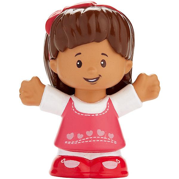 Базовая фигурка Fisher-Price Little People MiaСолдатики, люди и рыцари<br>Характеристики:<br><br>• тип игрушки: игровые и коллекционные герои;<br>• страна изготовления: Китай;<br>• размер: 9х5х6 см;<br>• бренд: Mattel;<br>• упаковка: блистер;<br>• вес: 61 гр;<br>• возраст: от 1 года;<br>• материал: пластик.<br><br>Базовая фигурка Fisher-Price Little People Mia представляет из себя увлекательную коллекционную игрушку из знаменитого мультфильма. Такую игрушку можно подарить ребенку от года.  <br><br>Ирушки из этой серии станут прекрасным подарком для малышей. Игрушки в точности повторяют характерные особенности профессии, поэтому с их помощью легко разыграть люые тематические истории. В данной серии представлены игрушки , которые напомнят детям любимых героев и станут основой для увлекательного тематического развлечения. <br><br>Игры с такими героями станут прекрасными тренировками не только мелкой моторики рук детей, но и фантазии ребенка. Игрушки изготовлены из сертифицированного, ударопрочного пластика, который окрашен стойкими и нетоксичными красителями.<br><br>Базовую фигурку Fisher-Price Little People Mia можно купить в нашем интернет-магазине.<br>Ширина мм: 90; Глубина мм: 50; Высота мм: 60; Вес г: 61; Возраст от месяцев: 12; Возраст до месяцев: 60; Пол: Унисекс; Возраст: Детский; SKU: 7014724;