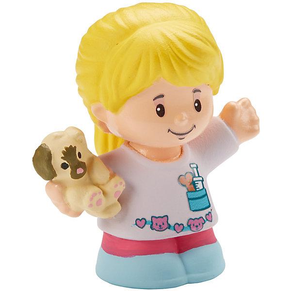 Базовая фигурка Fisher-Price Little People Ветеринар EllaСолдатики, люди и рыцари<br>Характеристики:<br><br>• тип игрушки: игровые и коллекционные герои;<br>• страна изготовления: Китай;<br>• размер: 9х5х6 см;<br>• бренд: Mattel;<br>• упаковка: блистер;<br>• вес: 61 гр;<br>• возраст: от 1 года;<br>• материал: пластик.<br><br>Базовая фигурка Fisher-Price Little People Ветеринар Ella представляет из себя увлекательную коллекционную игрушку из знаменитого мультфильма. Такую игрушку можно подарить ребенку от года.  <br><br>Ирушки из этой серии станут прекрасным подарком для малышей. Игрушки в точности повторяют характерные особенности профессии, поэтому с их помощью легко разыграть люые тематические истории. В данной серии представлены игрушки , которые напомнят детям любимых героев и станут основой для увлекательного тематического развлечения. <br><br>Игры с такими героями станут прекрасными тренировками не только мелкой моторики рук детей, но и фантазии ребенка. Игрушки изготовлены из сертифицированного, ударопрочного пластика, который окрашен стойкими и нетоксичными красителями.<br><br>Базовую фигурку Fisher-Price Little People Ветеринар Ella можно купить в нашем интернет-магазине.<br>Ширина мм: 90; Глубина мм: 50; Высота мм: 60; Вес г: 61; Возраст от месяцев: 12; Возраст до месяцев: 60; Пол: Унисекс; Возраст: Детский; SKU: 7014728;
