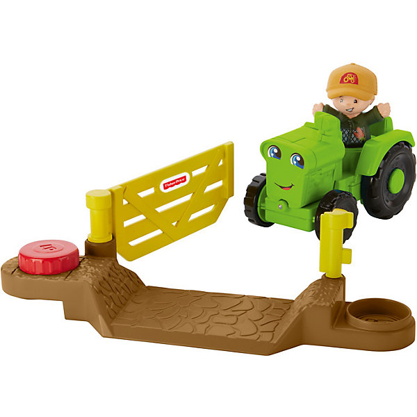 Mattel Транспортное средство Fisher-Price Little People Helpful Harvester Tractor