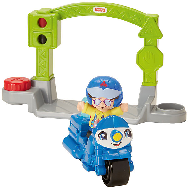 Mattel Транспортное средство Fisher-Price Little People Stop&Go Police Motorcycle