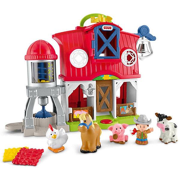 Музыкальная ферма Fisher-Price Little PeopleИнтерактивные игрушки для малышей<br>Характеристики:<br><br>• тип игрушки: игровой набор;<br>• возраст: от 1 года;<br>• размер: 40,5x14,5х61 см;<br>• вес: 1,4 кг; <br>•  комплектация: 4 фигурки животных, фермер;<br>• упаковка: картонная коробка;<br>• материал: пластик;<br>• бренд:  Mattel.<br><br>Музыкальная ферма Fisher-Price Little People представляет собой веселое фермерское хозяйство с милыми фигурками животных и фермера. Игровой набор развивает логику, фантазию и предназначен для ролевых игр. Малыш сможет самостоятельно, или вместе с родителями, разыгрывать целые сценки из фермерской жизни.<br><br>Музыкальная ферма с животными от Fisher-Price позволяет малышу играть как сидя, так и стоя. В ферме много открывающихся элементов: дверь, чердак. Загон для животных легко превращается в забор.<br><br>Ферма проигрывает 8 разных песенок, а так же издает множество других звуков: курица кудахчет, корова мычит, конь ржет и т.д. Так же у фермы есть 2 режима: день и ночь. Днем звучат бодрые мелодии, ночью более спокойные. Режимы переключатся с помощью крутящегося значка с луной и солнцем.<br><br>Музыкальную ферму Fisher-Price Little Peopleможно купить в нашем интернет-магазине.<br>Ширина мм: 405; Глубина мм: 145; Высота мм: 610; Вес г: 1452; Возраст от месяцев: 12; Возраст до месяцев: 60; Пол: Унисекс; Возраст: Детский; SKU: 7014736;