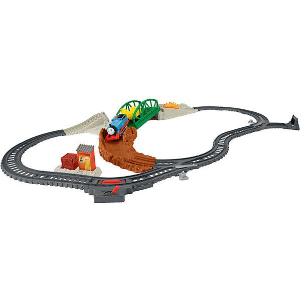 Игровой набор Томас и его друзья Опасный путьЖелезные дороги<br>Характеристики:<br><br>• тип игрушки: набор;<br>• комплектация: дорожная станция, машинка;<br>• бренд: Mattel;<br>• страна бренда: США;<br>• страна производства: Китай;<br>• упаковка: картон;<br>• размер: 32х7,5х40,5 см;<br>• вес: 1,229 кг;<br>• возраст: от 3 лет;<br>• материал: пластик.<br><br>Игровой набор Томас и его друзья «Опасный путь» представляет из себя увлекательную игру для детей от трех лет. Ребенку понравится собирать целую полосу препятствий для любимого мультипликационного героя и затем отпускать Томаса в приключения по только что собранным дорогам.<br><br>Такой большой набор разовьет мелкую моторику, логическое мышление, научит бережно относиться к игрушкам. Все элементы набора являются безопасными для здоровья и прошли необходимые проверки на соответствие нормам и требованиям, предъявляемым к детским товарам.<br><br>Игровой набор Томас и его друзья «Опасный путь» можно купить в нашем интернет-магазине.<br>Ширина мм: 320; Глубина мм: 75; Высота мм: 405; Вес г: 1229; Возраст от месяцев: 36; Возраст до месяцев: 2147483647; Пол: Унисекс; Возраст: Детский; SKU: 7014754;