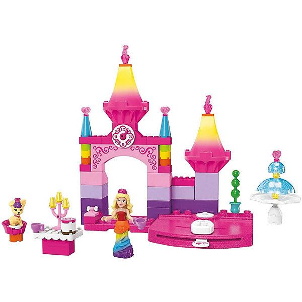 Конструктор MEGA CONSTRUX Barbie Королевский балBarbie<br>Характеристики:<br><br>• тип игрушки: конструктор;<br>• возраст: от 4 лет;<br>• размер: 23x32х7 см;<br>• вес: 453 гр; <br>• упаковка: картонная коробка;<br>• комплектация: фигурка Барби, фигурка щенка, радужный замок, фонтан, столик, подсвечник, 2 чашки, торт, корзинка питомца для сна, подушечка с креплением для косточки;<br>• количество деталей: 81 шт;<br>• материал: пластик;<br>• бренд:  Mattel.<br><br>Конструктор MEGA CONSTRUX Barbie «Королевский бал» предлагает всем поклонницам прекрасных Barbie отправиться на чудесный королевский бал вместе с мини-фигуркой принцессы и ее питомцем. Из пластиковых деталей дети смогут построить роскошный замок, в котором пройдет сказочное торжество.<br><br>В замке Dreamtopia имеется прекрасный фонтан, а также установлена подвижная платформа, на которую можно установить прелестную Барби и закружить в ярком танце. В комплекте Rainbow Princess Castle присутствуют элементы для создания столика и различные аксессуары: чашечки и подсвечник. Для маленького щенка в наборе представлены корзина для сна и подушка.<br><br>Благодаря тому, что мини-фигурка принцессы тоже имеет подвижные детали, девочки смогут придавать ей различные позы для того, чтобы лучше продемонстрировать ее радужный наряд.<br><br>Конструктор MEGA CONSTRUX Barbie «Королевский бал» можно купить в нашем интернет-магазине.<br>Ширина мм: 230; Глубина мм: 70; Высота мм: 325; Вес г: 453; Возраст от месяцев: 48; Возраст до месяцев: 2147483647; Пол: Унисекс; Возраст: Детский; SKU: 7014812;