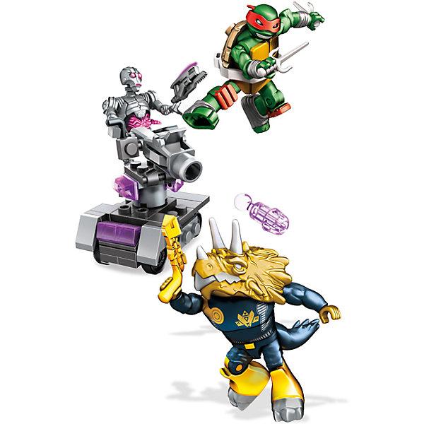 Набор MEGA CONSTRUX Черепашки Ниндзя Измерение ИксПластмассовые конструкторы<br>Характеристики:<br><br>• тип игрушки: конструктор;<br>• возраст: от 5 лет;<br>• размер: 23x4,5х15 см;<br>• вес: 226 гр; <br>• комплетация: 3 фигурки персонажей, микротанк;<br>• количество деталей: 81;<br>• упаковка: картонная коробка;<br>• материал: пластик;<br>• бренд:  Mattel.<br><br>Набор MEGA CONSTRUX Черепашки Ниндзя «Измерение Икс» подарит ребенку замечательную возможность самому создать фигурки известных героев и устроить захватывающую эпичную битву Рафаэля с Крэнгом и Трицератопсом. Злодей Крэнг имеет в своем арсенале боеспособный дроид, который может наносить мощные лазерные удары. Но черепашка обладает недюжинной силой, и может достойно противостоять их натиску, имея у себя в руках всего лишь 2 меча. <br><br>Набор содержит 81 деталь, из которых получится собрать 3 забавные фигурки и одну машинку на колесах. <br><br>Набор MEGA CONSTRUX Черепашки Ниндзя «Измерение Икс» можно купить в нашем интернет-магазине.<br>Ширина мм: 230; Глубина мм: 45; Высота мм: 150; Вес г: 226; Возраст от месяцев: 60; Возраст до месяцев: 2147483647; Пол: Мужской; Возраст: Детский; SKU: 7014875;