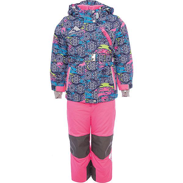 Комплект: куртка и полукомбинезон Софи OLDOS ACTIVE для девочкиВерхняя одежда<br>Характеристики товара:<br><br>• цвет: синий<br>• комплектация: куртка и полукомбинезон<br>• состав ткани: полиэстер, Teflon<br>• подкладка: флис<br>• утеплитель: Hollofan pro<br>• сезон: зима<br>• мембрана<br>• температурный режим: от -30 до +5<br>• водонепроницаемость: 5000 мм <br>• паропроницаемость: 5000 г/м2<br>• плотность утеплителя: куртка - 200 г/м2, полукомбинезон - 150 г/м2<br>• застежка: молния<br>• капюшон: без меха, съемный<br>• полукомбинезон усилен износостойкими вставками<br>• страна бренда: Россия<br>• страна изготовитель: Россия<br><br>Модный зимний костюм Oldos дополнен регулируемыми манжетами, планкой от ветра и другими функциональными элементами. Детский зимний комплект создан с применением мембранной технологии и рассчитан даже на сильные морозы. Непромокаемый и непродуваемый верх комплекта для девочки создает комфортный для ребенка микроклимат.<br><br>Покрытие Teflon: защита от воды и грязи, износостойкость, за изделием легко ухаживать. Мембрана 5000/5000: водонепроницаемость, одежда дышит. Гипоаллергенный утеплитель HOLLOFAN PRO 200/150 г/м2 - тоньше обычного, зато эффективнее удерживает тепло. Подкладка флисовый (в рукавах и брючинах гладкий п/э для легкости одевания). <br><br>Костюм прекрасно защитит от ветра и снега благодаря воротнику-стойке, ветрозащитным планкам, снего-ветрозащитным муфтам и юбке; манжета регулируется по ширине. Дополнительно в рукавах есть эластичные манжеты с отверстием для большого пальца! <br><br>Спинка удлиненная, низ куртки регулируется по ширине, эластичный пояс. Капюшон съемный с регулировкой объема. Карманы на молнии, есть внутренний карман на липучке. Полукомбинезон с застежкой на молнии, резинкой по талии, широкими эластичными регулируемыми подтяжками, карманами, усилениями в местах износа. Светоотражающие элементы. <br><br>Комплект: куртка и полукомбинезон Софи Oldos (Олдос) для девочки можно купить в нашем интернет-магазине.<br>