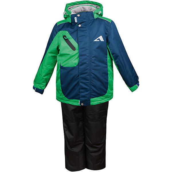 Комплект: куртка и полукомбинезон Ларс OLDOS ACTIVE для мальчикаВерхняя одежда<br>Характеристики товара:<br><br>• цвет: зеленый<br>• комплектация: куртка и полукомбинезон<br>• состав ткани: полиэстер, Teflon<br>• подкладка: флис<br>• утеплитель: Hollofan pro<br>• сезон: зима<br>• мембрана<br>• температурный режим: от -30 до +5<br>• водонепроницаемость: 5000 мм <br>• паропроницаемость: 5000 г/м2<br>• плотность утеплителя: куртка - 200 г/м2, полукомбинезон - 150 г/м2<br>• застежка: молния<br>• капюшон: без меха, съемный<br>• полукомбинезон усилен износостойкими вставками<br>• страна бренда: Россия<br>• страна изготовитель: Россия<br><br>Стильный зимний комплект от бренда Oldos отличается мягкой подкладкой, прочным верхом и теплым наполнителем. Этот детский комплект благодаря мембранной технологии рассчитан даже на сильные морозы. Теплый комплект для мальчика дополнен элементами, помогающими подогнать его размер под ребенка. <br><br>Покрытие Teflon: защита от воды и грязи, износостойкость, за изделием легко ухаживать. Мембрана 5000/5000 обеспечивает водонепроницаемость, одежда дышит. Гипоаллергенный утеплитель HOLLOFAN PRO 200/150 г/м2 - тоньше обычного, зато эффективнее удерживает тепло. Подкладка флисовый (в рукавах и п/комбинезоне гладкий п/э для легкости одевания). <br><br>Костюм прекрасно защитит от ветра и снега благодаря воротнику-стойке, ветрозащитным планкам, снего-ветрозащитным муфтам и юбке; манжета регулируется по ширине. Дополнительно в рукавах есть эластичные манжеты с отверстием для большого пальца! <br><br>Спинка удлиненная, низ куртки регулируется по ширине. Капюшон съемный с регулировкой объема. Карманы на молнии, есть внутренний кармашек на липучке. Полукомбинезон с застежкой на молнии, резинкой по талии, широкими эластичными регулируемыми подтяжками, карманами, усилениями в местах износа. Светоотражающие элементы.<br><br>Комплект: куртка и полукомбинезон Ларс Oldos (Олдос) для мальчика можно купить в нашем интернет-магазине.<br>Ширина мм: 356; Глуби