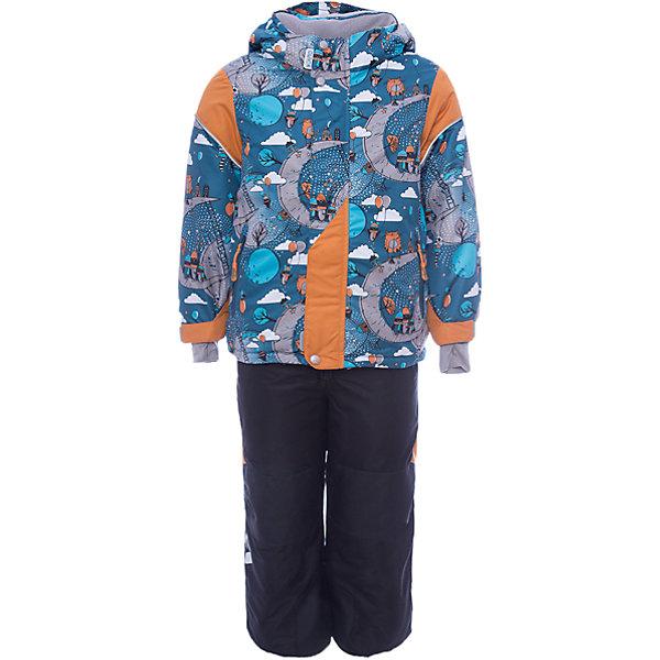 Комплект: куртка и полукомбинезон Нильс OLDOS ACTIVE для мальчикаВерхняя одежда<br>Характеристики товара:<br><br>• цвет: голубой<br>• комплектация: куртка и полукомбинезон<br>• состав ткани: полиэстер, Teflon<br>• подкладка: флис<br>• утеплитель: Hollofan pro<br>• сезон: зима<br>• мембрана<br>• температурный режим: от -30 до +5<br>• водонепроницаемость: 5000 мм <br>• паропроницаемость: 5000 г/м2<br>• плотность утеплителя: куртка - 200 г/м2, полукомбинезон - 150 г/м2<br>• застежка: молния<br>• капюшон: без меха, съемный<br>• полукомбинезон усилен износостойкими вставками<br>• страна бренда: Россия<br>• страна изготовитель: Россия<br><br>Такой зимний костюм имеет множество ветро- и снегозащитных элементов. Зимний костюм Oldos дополнен регулируемыми манжетами и низом, а также другими функциональными элементами. Детский зимний комплект создан с применением мембранной технологии и рассчитан даже на сильные морозы и ветра. <br><br>Покрытие Teflon: защита от воды и грязи, износостойкость, за изделием легко ухаживать. Мембрана 5000/5000: водонепроницаемость, выведение влаги и комфорт. Гипоаллергенный утеплитель HOLLOFAN PRO 200/150 г/м2 - тоньше обычного, зато эффективнее удерживает тепло.<br><br>Подкладка флисовый (в рукавах и п/комбинезоне гладкий п/э для легкости одевания). Костюм прекрасно защитит от ветра и снега благодаря воротнику-стойке, ветрозащитным планкам, снего-ветрозащитным муфтам и юбке; манжета регулируется по ширине. Дополнительно в рукавах есть эластичные манжеты с отверстием для большого пальца! <br><br>Спинка удлиненная, низ куртки регулируется по ширине. Капюшон съемный с регулировкой объема. Карманы на молнии, есть внутренний карман на липучке. Полукомбинезон с застежкой на молнии, резинкой по талии, широкими эластичными регулируемыми подтяжками, карманами, усилениями в местах износа. Светоотражающие элементы.<br><br>Комплект: куртка и полукомбинезон Нильс Oldos (Олдос) для мальчика можно купить в нашем интернет-магазине.<br>Ширина мм: 356; Глубина мм: